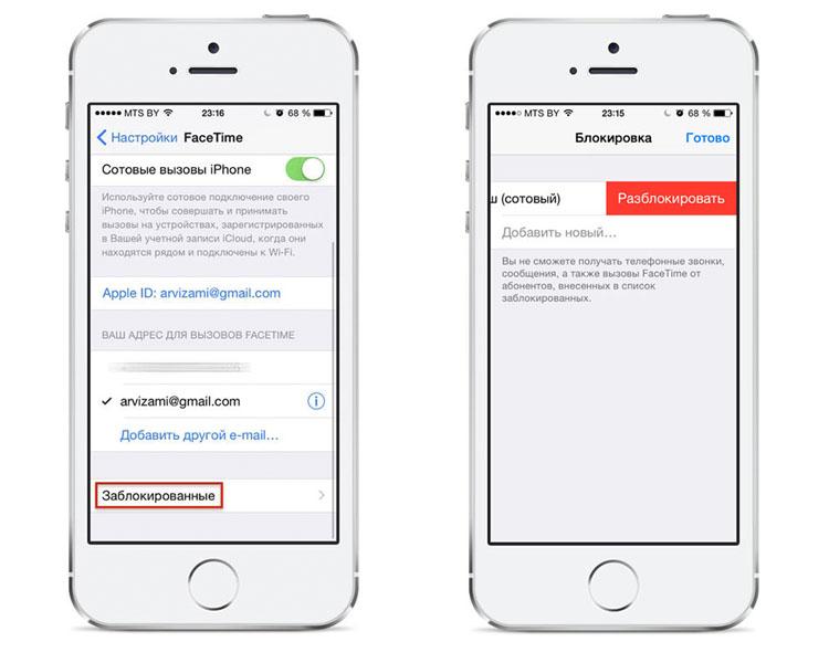 Черный список в iPhone 6 и каким образом он работает?
