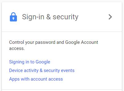 экран входа в аккаунт Google