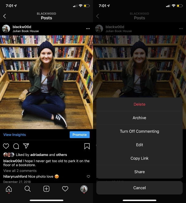 Как удалить посты в Instagram: хитрости и нюансы