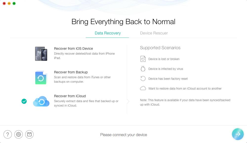 Как восстановить удаленные контакты с iCloud на iPhone - Шаг 2