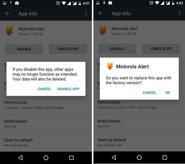Отключить системное приложение на Android