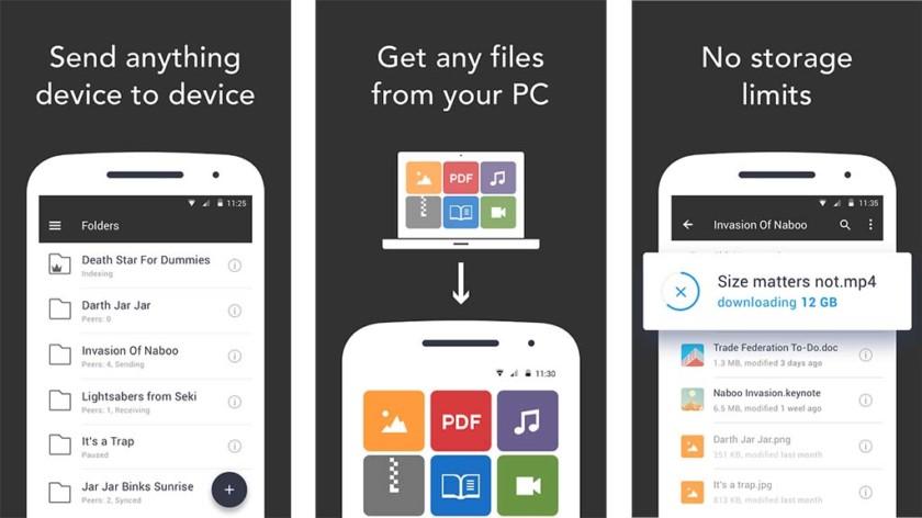 Resilio Sync - одно из лучших приложений для передачи файлов с ПК на Android для Android